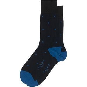 Falke Cotton Dot Sock Black/Sapphire