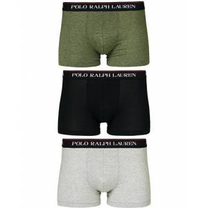 Polo Ralph Lauren 3-Pack Stretch Trunk Black/Grey/Moss Green
