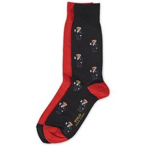 Polo Ralph Lauren 2-Pack Bear Socks Black/Red