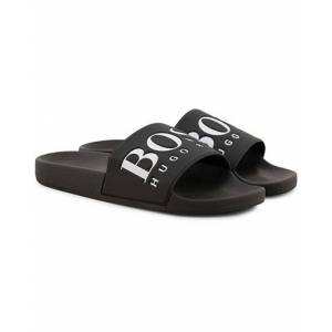 Boss Athleisure Solar Slide Flip Flop Black