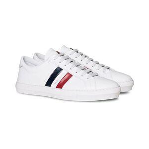 Moncler New Monaco Stripe Sneaker White Calf
