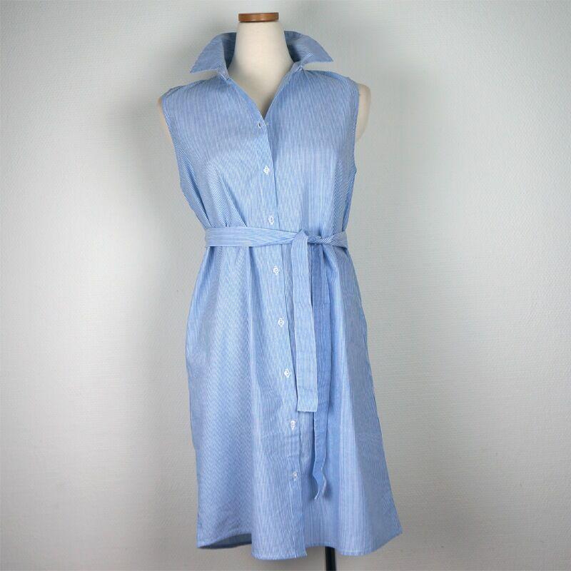 intown Skjort-blus-klänning i kadettrand (Stl: 36, 38, 40, 42, 44, )