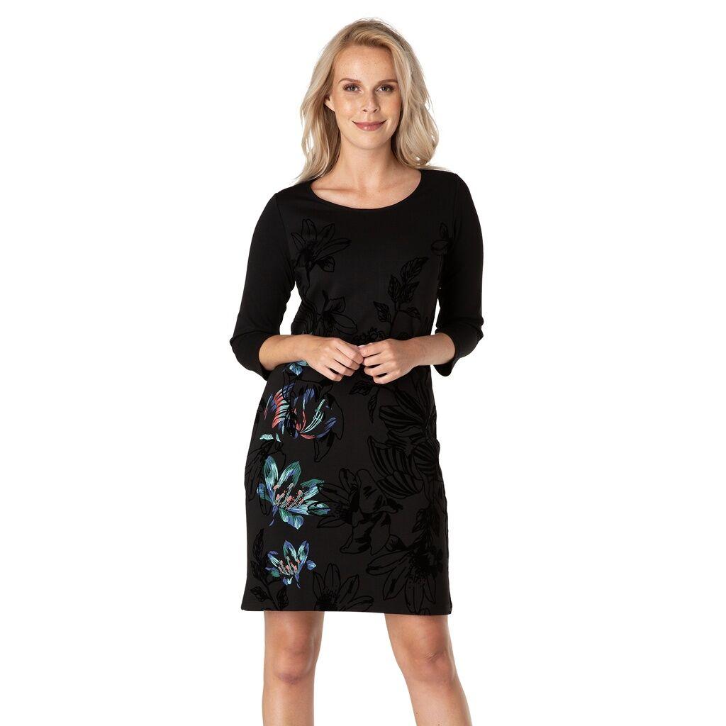 Yest Supersnygg klänning med sammetsprint (Stl: 36, 38, 40, 42, 44, 46, )