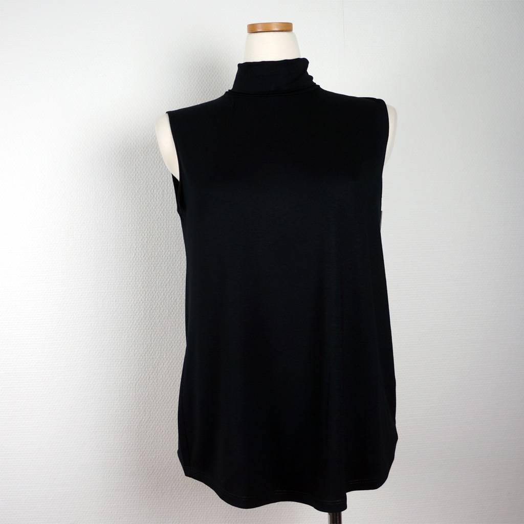 Cotonel Ärmlös polo från Cotonel, svart (Stl: M, L, XXL, )