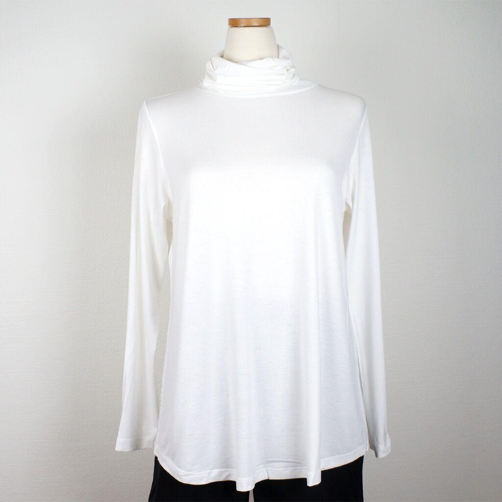 Cotonel Polo med vidd, vit, lång ärm (Stl: M, L, XL, XXL, )