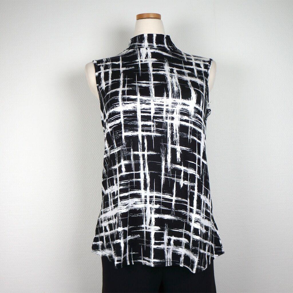 Cotonel Top, svartvit (Stl: M, L, XL, XXL, )
