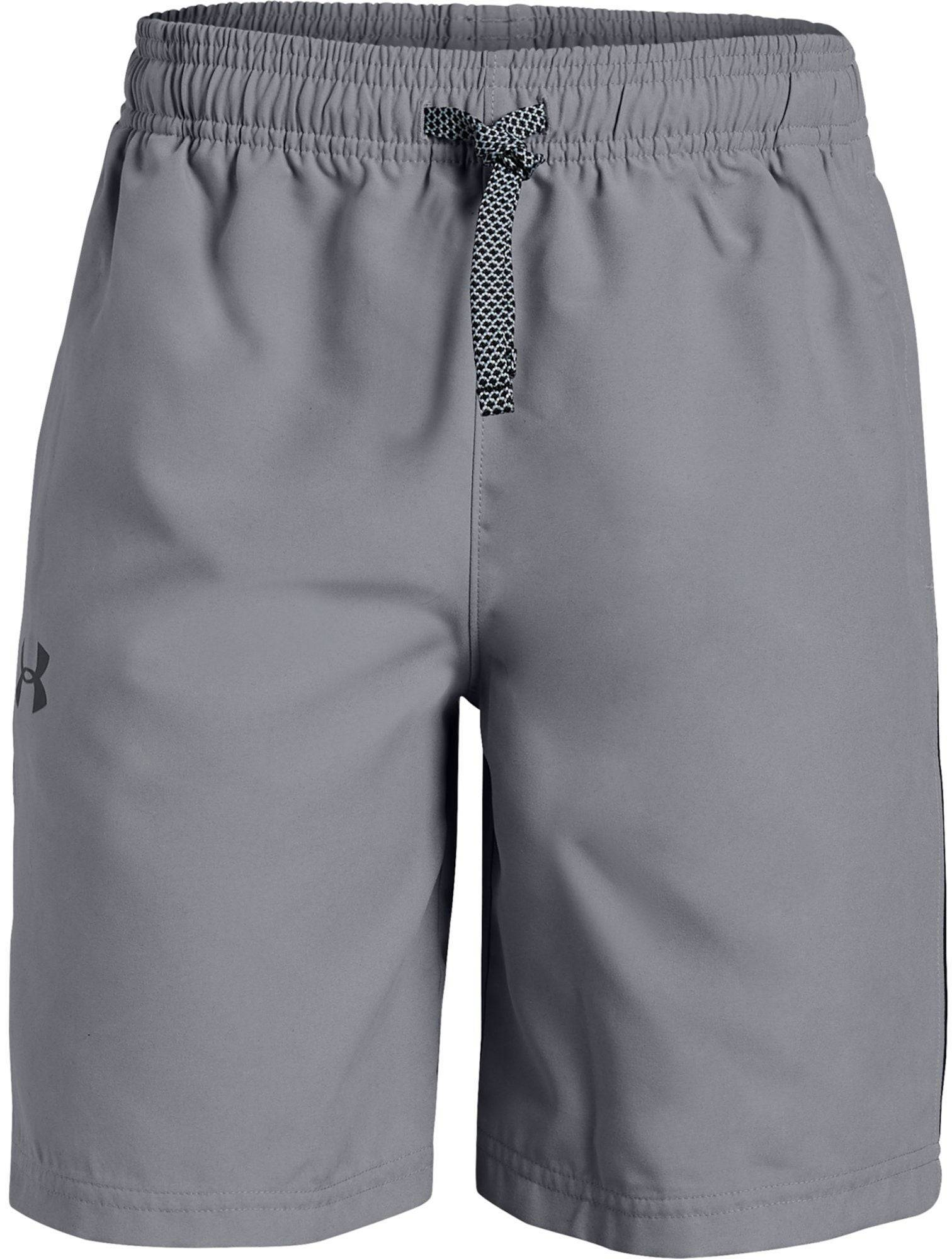 Under Armour UA Woven Graphic Shorts, Steel XS