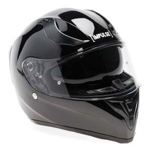 Impulse Motorcykelhjälm, Svart 55-56 cm