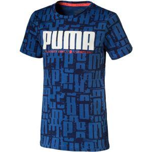 Puma Active Sports Aop T-Shirt, Blue 140