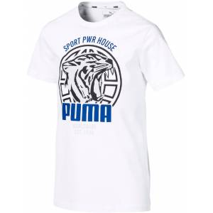 Puma Alpha Graphic T-Shirt, White 140