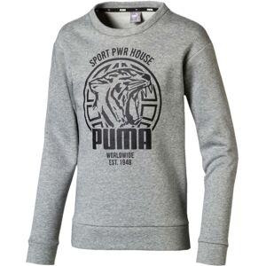 Puma Alpha Graphic Crew Tröja, Medium Grey Hea 104