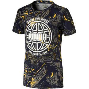 Puma Alpha Aop T-Shirt, Peacoat 92