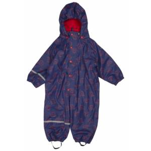 CeLaVi Regnoverall Fleece Navy Purple Stl 70