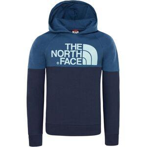 The North Face Drew Peak Raglan Hoodie Barn, Cosmic Blue/Shady Blue XS
