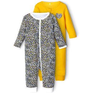 Name it Animal Pyjamas 2-Pack, Golden Rod, 62