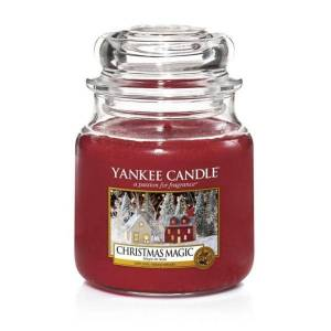 Yankee Candle Classic Medium Jar Christmas Magic 411g Röd