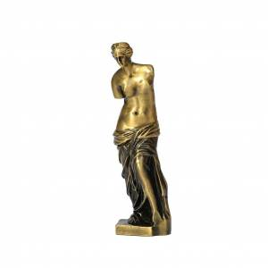 ART 2 stycken Venus i metall, 18x5,5x5,5 cm i bronz