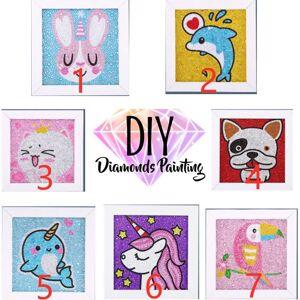 Barn diamantmålning 5D med ram- Bäst födelsedagspresent