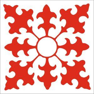 Kakel dekor mönster 6 pack röd