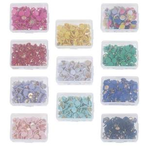 Unbranded 100pcs round push pins notice board map thumb tacks point bullet