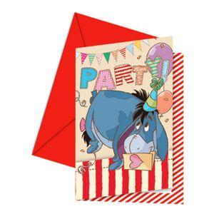 Disneys Nalle Puh Inbjudningskort med Kuvert