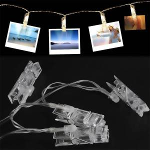 Unbranded Led photo clips string lights cards picture album