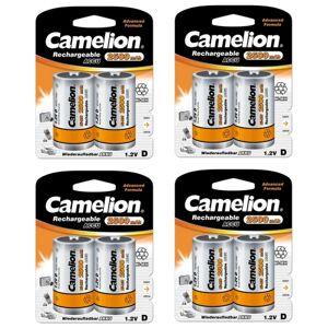 Camelion 8-pack Laddningsbart Batteri D Nimh 2500mah Camelion
