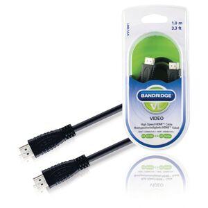 Bandridge HDMI-kabel 1 Meter 4K-Stöd 3D-stöd