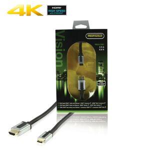 Profigold High speed HDMI kabel 2.0m med Ethernet HDMI till HDMI mini
