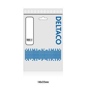 Deltaco vinklad HDMI kabel, HDMI High Speed with Ethernet, 0.5m,