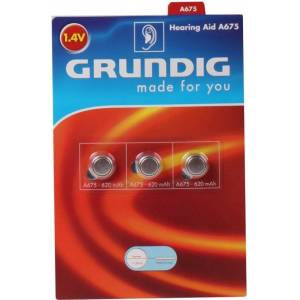 Grundig 6-Pack A675 Hörapparats batterier