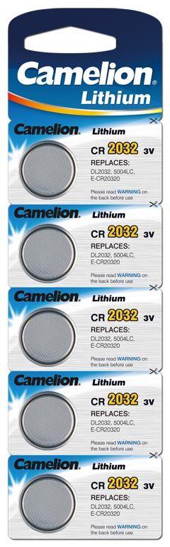 Camelion - Batteri CR2032 5-pack Litium