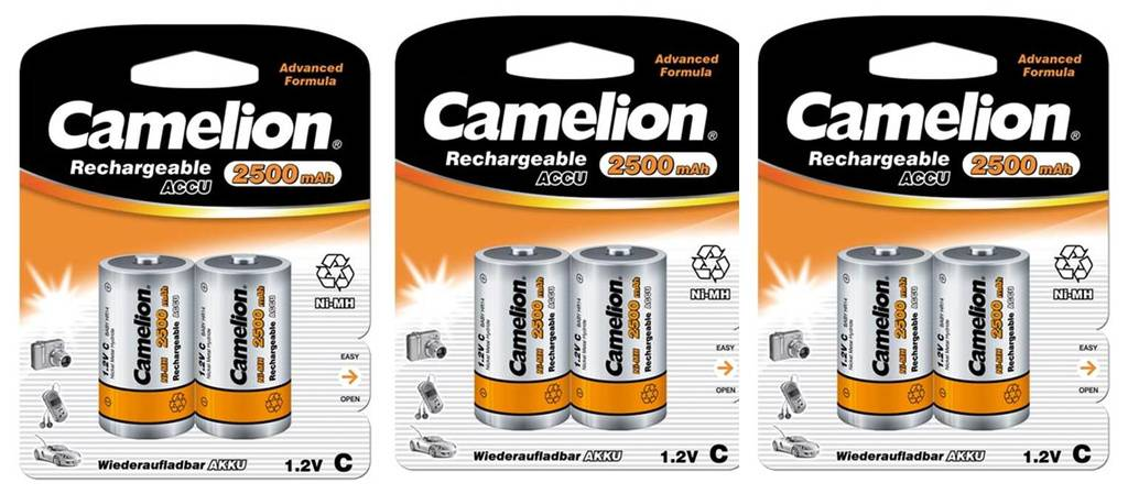 Kodak 6-pack Laddningsbart batteri C NiMH 2500mAh HR14