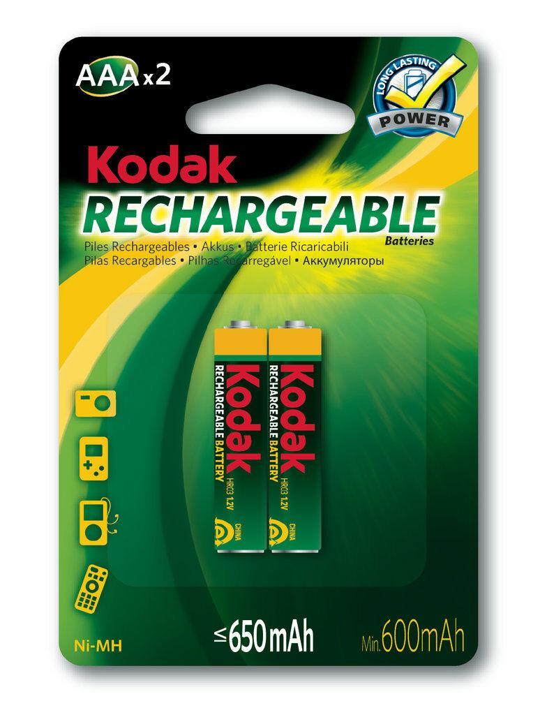 Kodak Laddningsbara AAA batterier 2-pack 650 mAh NiMH Kodak