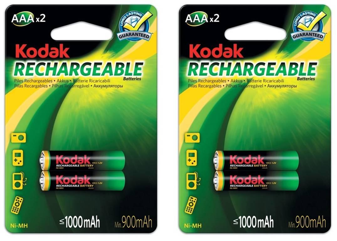 Kodak Laddningsbara AAA batterier 4-pack 1000 mAh NiMH Kodak