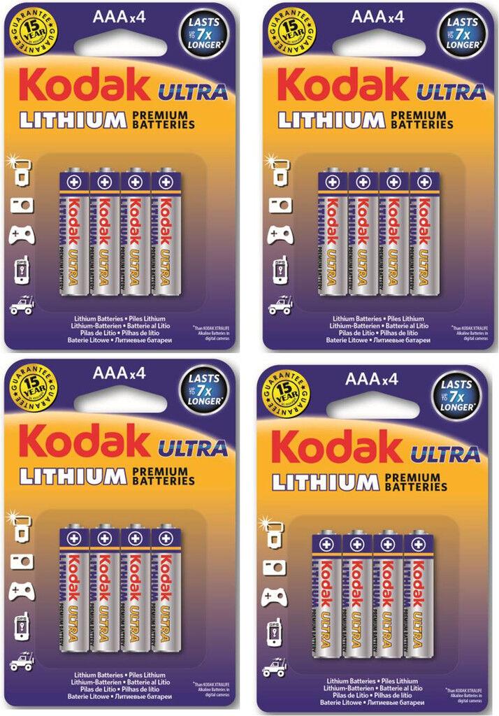 Kodak Batteri AAA FR03 Lithium 16-pack Kodak Ultra Litium L92