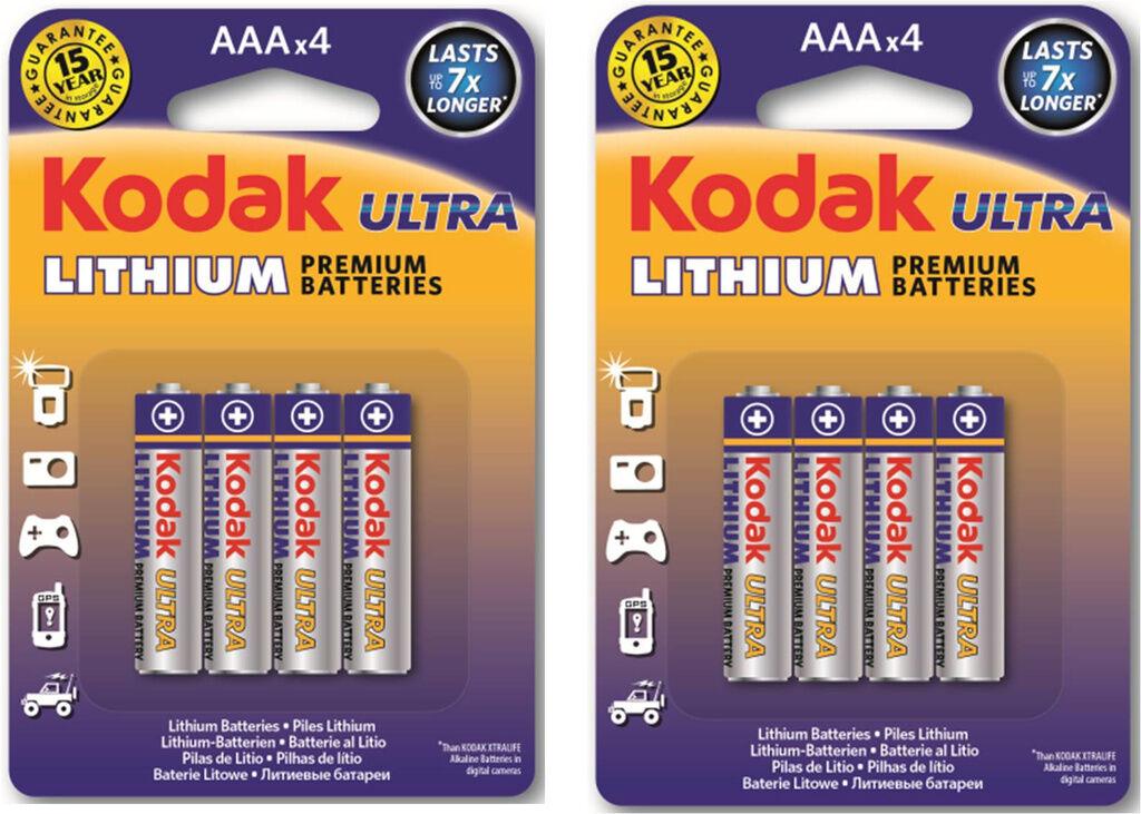 Kodak AAA Litium Batteri 8-pack Kodak  Lithium