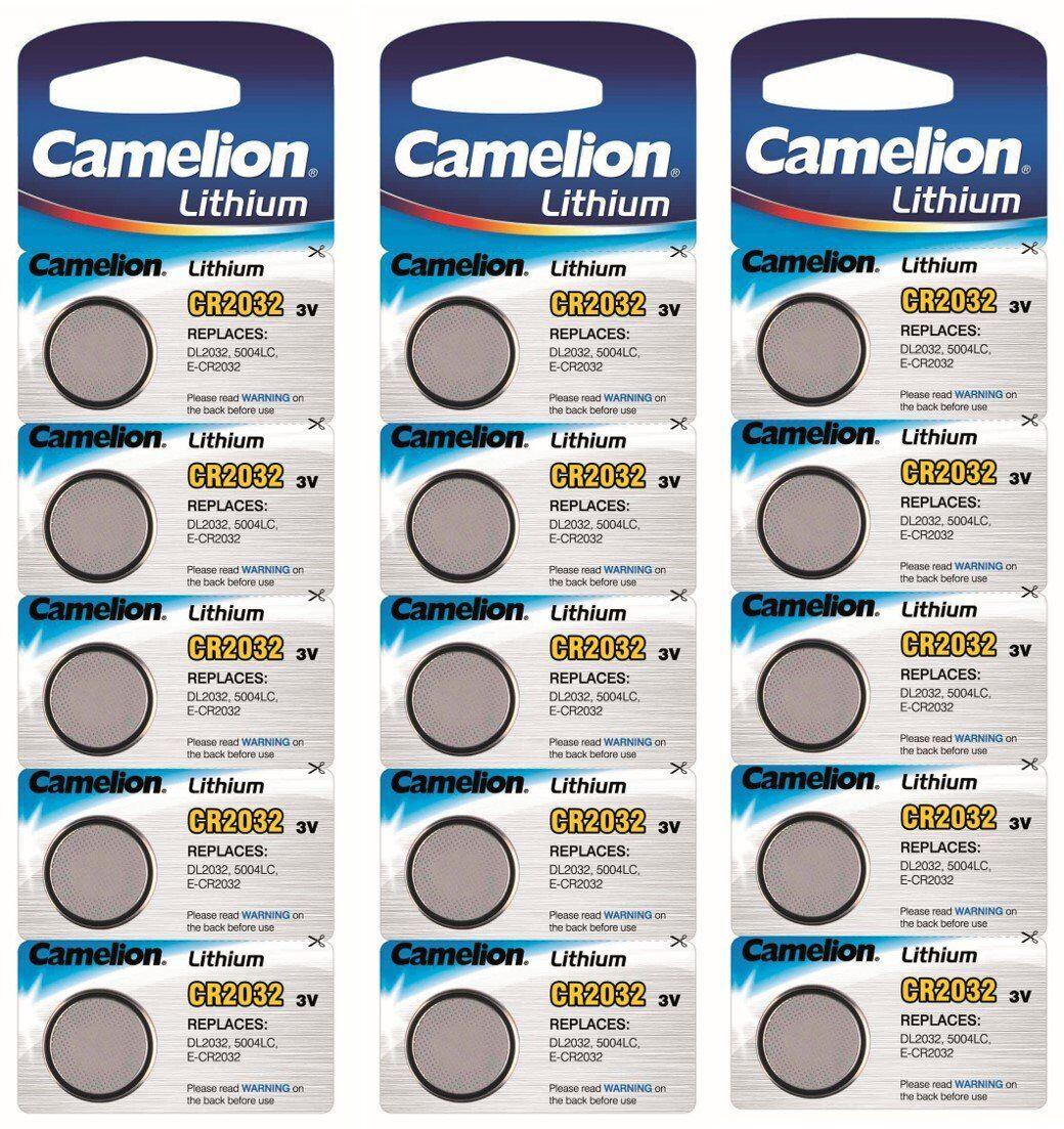 Camelion - Batteri Lithium CR2032 15-pack Litium