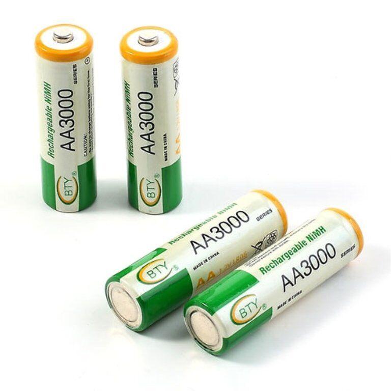 MTK BTY 4st uppladdningsbara AA / LR6 batterier Ni-MH