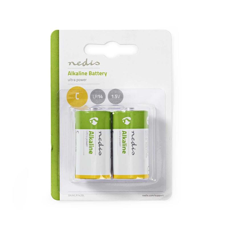 Nedis Alkaliskt batteri C   1.5 V   2 delar   Blister