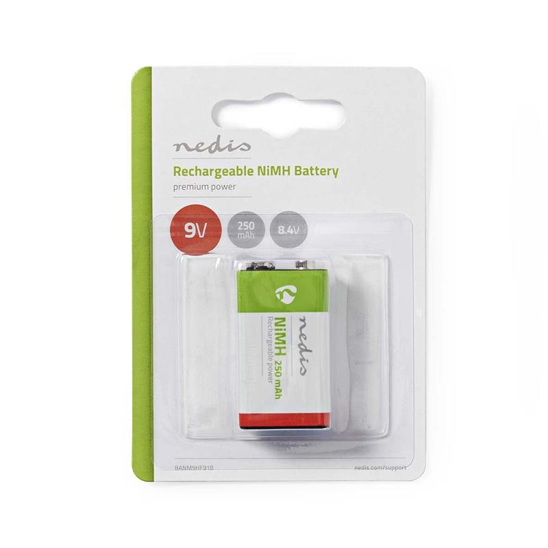 Nedis Uppladdningsbart Ni-MH-batteri E-block   8.4 V   250 mAh   Blist