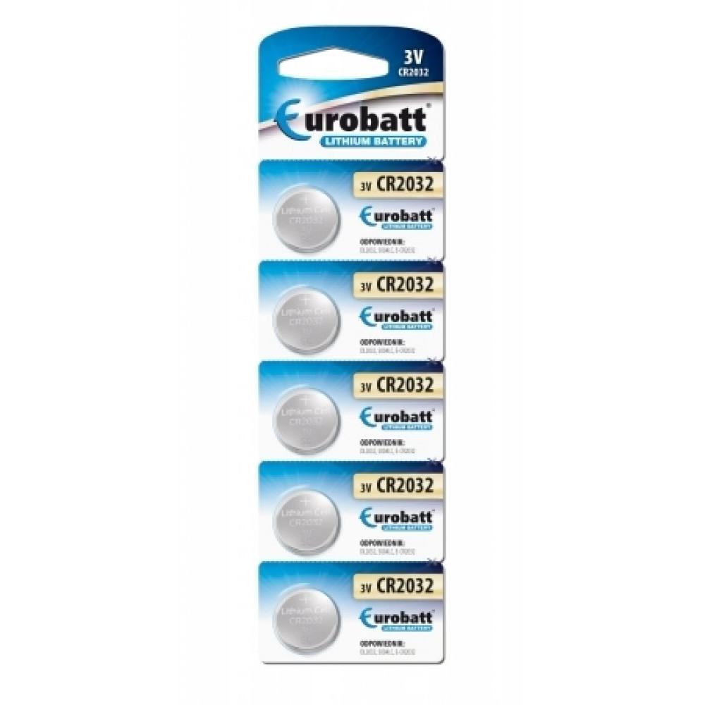 Eurobatt 5-Pack CR2032 Lithium batterier