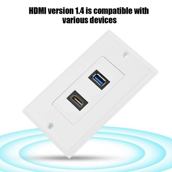 Unbranded Hdmi usb3.0 two-in-one integrated multimedia wall panel audi