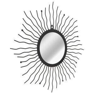 vidaXL Väggspegel sol 60 cm svart