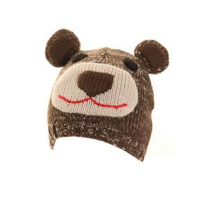Unbranded Childrens owl and bear ski hat with ears bear utha253