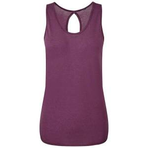 Tridri Kvinnor / Dam Tie Back Vest M Plommon