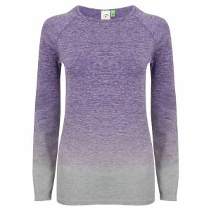 Tombo WomensLadies Seamless Fade Out Långärmad topp L/XL Lila /