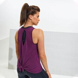 TriDri Kvinnor / Dam Tie Back Vest S Plommon