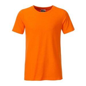 James And Nicholson Pojkar Basic T-shirt L Orange