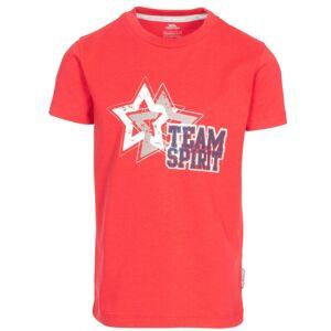Trespass Barn-pojkar Awestruck Kortärmad T-shirt 5-6 Years Röd